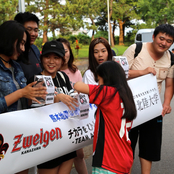 留学生が熊本地震災害への募金活動