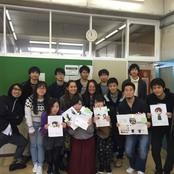 金城大学美術部の学生と交流会