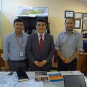 本学一行がカンボジア友好校来訪