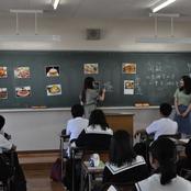 本学留学生が金沢辰巳丘高校1年生と交流