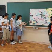 小松市立串小学校で地域安全マップ作り