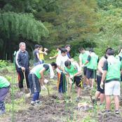 柔道部 熊走地区で山椒農園整備