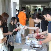 毎年恒例 辰巳祭水ギョーザ模擬店