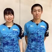 卓球部 混合ダブルスで全日本卓球選手権大会へ