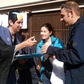 国連大学と合同で観光客へアンケート調査
