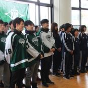 女子サッカー部 アイスホッケー部 全国大会壮行会を開催