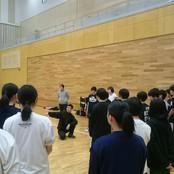 バスケ部簑川監督 加賀市立錦城中学校に技術指導