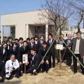 卒業生記念植樹式を挙行