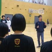 金沢高校女子バスケ部へ技術指導