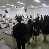 滑川高校薬業科2年生 大学見学会
