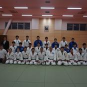 柔道部がポルトガル柔道選手団と合同練習