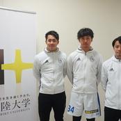 サッカー部3選手がJFLに入団!