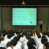 藤岡教授が富山第一高校で講演、研修を実施