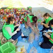 女川祭に学生ボランティアとして参加