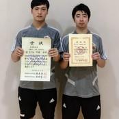 卓球部から国民体育大会代表選手に選出