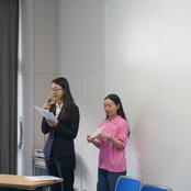 金沢辰巳丘高校中国語オリエンテーションに留学生が参加