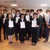 北陸大学特別奨学金の奨学生認定書授与式を挙行