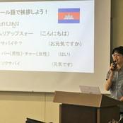 カンボジアでの教育支援について学ぶ