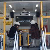 留学生別科生が地震体験車で防災訓練