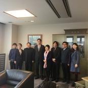 中国人民大学首都発展与戦略研究院副院長が小倉理事長・学長を表敬訪問