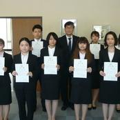 北陸大学奨学生認定書授与式(太陽が丘キャンパス)