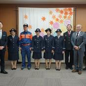学生消防団員が金沢市長に表敬訪問